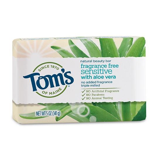 Tom's Of Maine Sensitive Aloe Fragrance-free Natural Beauty Bar 5 Oz.