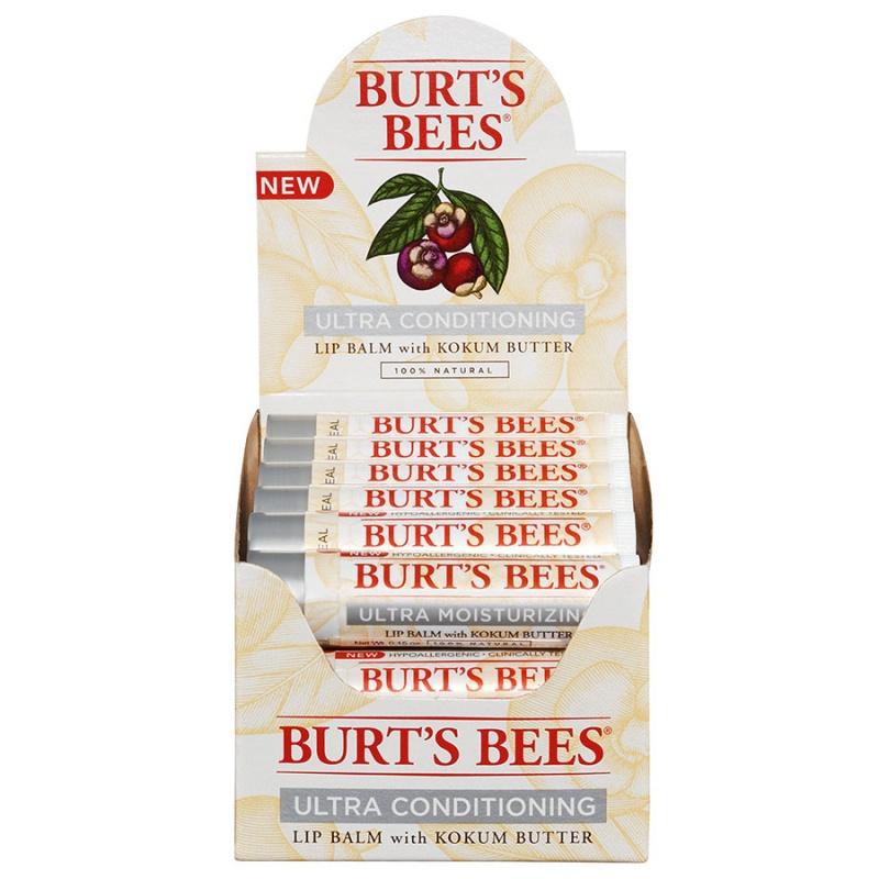 Burt's Bees Ultra Conditioning Lip Balm Display 12 (0.15 Oz.) Tubes