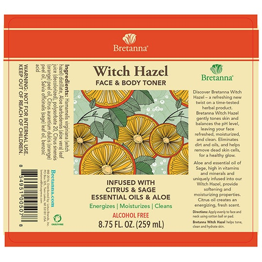 Bretanna Citrus Sage Witch Hazel 8.75 Fl. Oz.