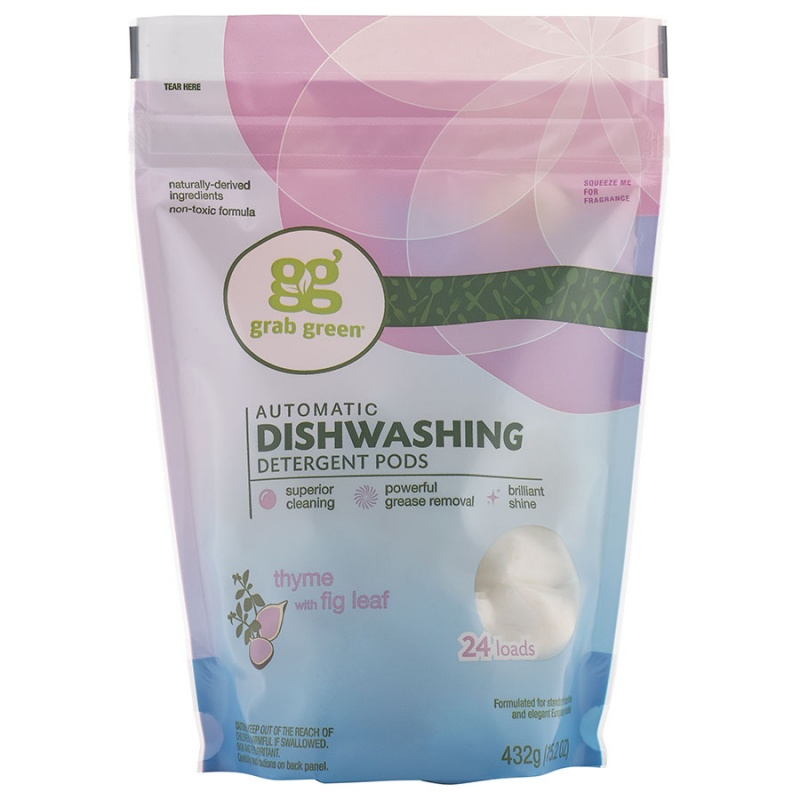Grab Green Thyme With Fig Leaf Auto Dishwasher Pods 24 Loads