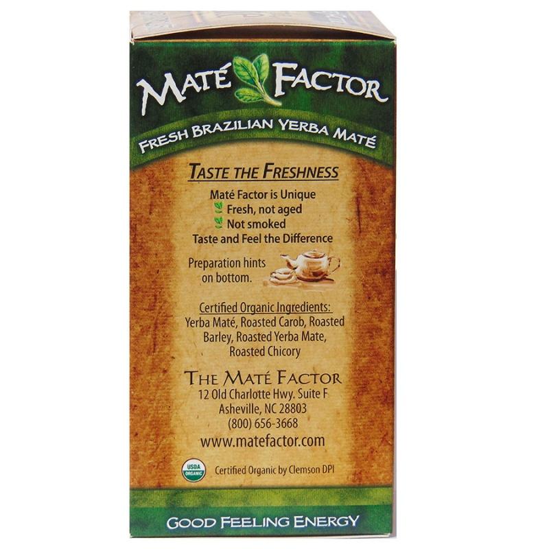 Mate Factor Dark Roast Yerba Mate Tea 20 Tea Bags