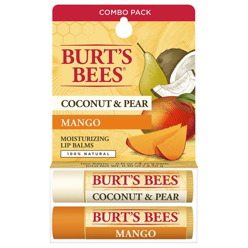Burt's Bees B Coconut & Pear & Mango Butter Lip Balm Blister Box 0.15Oz