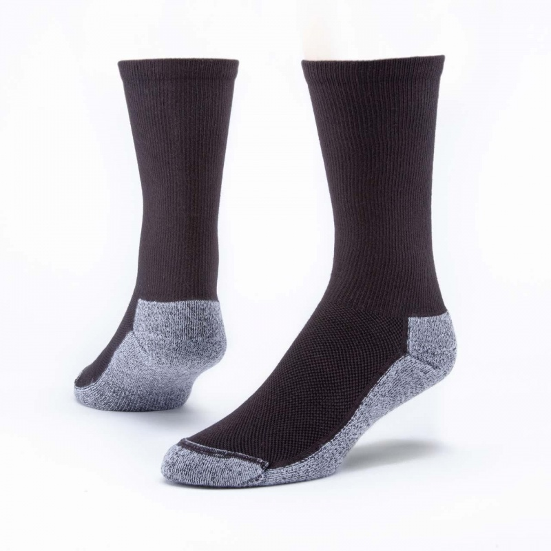 Maggie's Functional Organics Black Crew Sport Socks Size 10-13