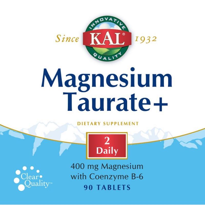 Kal Vitamins Magnesium Taurate 90 Count