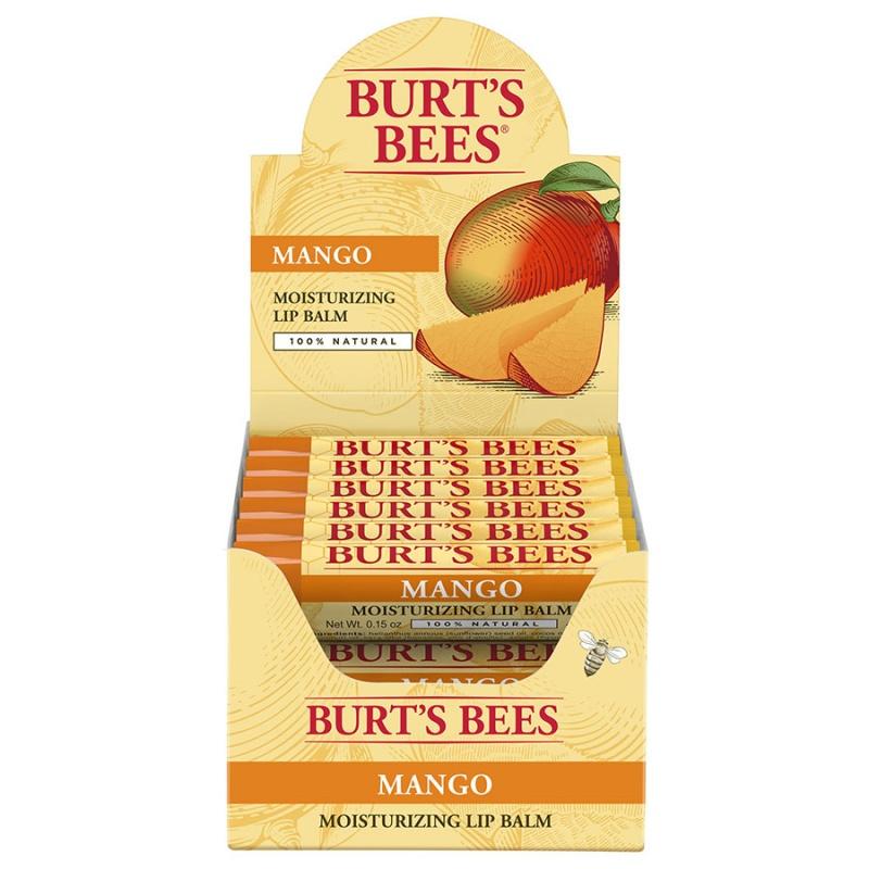 Burt's Bees 12-piece Mango Butter Lip Balm Display