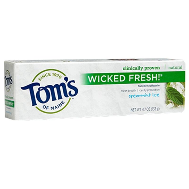 Tom's Of Maine Spearmint Ice Fluoride Toothpaste 4.7 Oz.