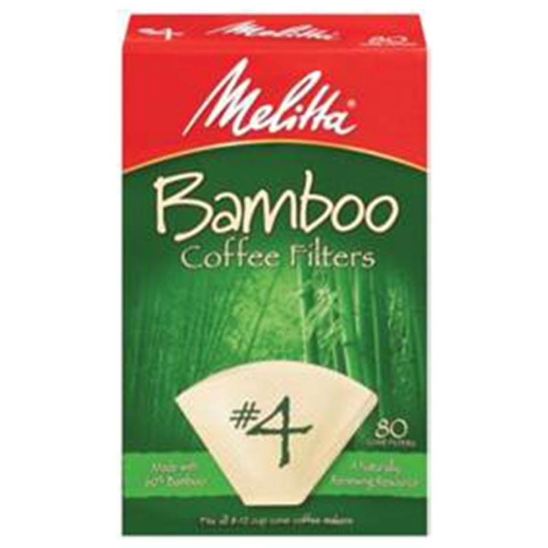 Melitta Bamboo #4 Cone Coffee Filters #4 Cone