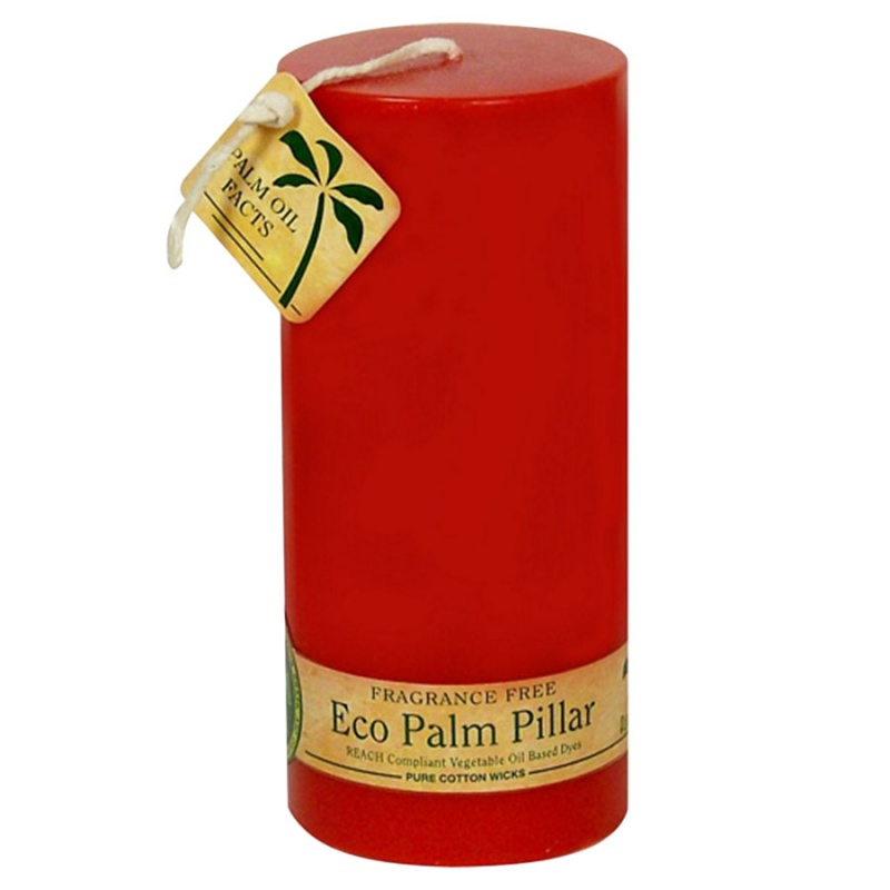 Aloha Bay Unscented Red Pillar Candle 2 1/4 X 5