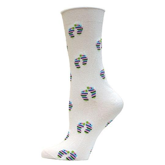 Maggie's Functional Organics White S T A N D Cotton Trouser Socks 10-13