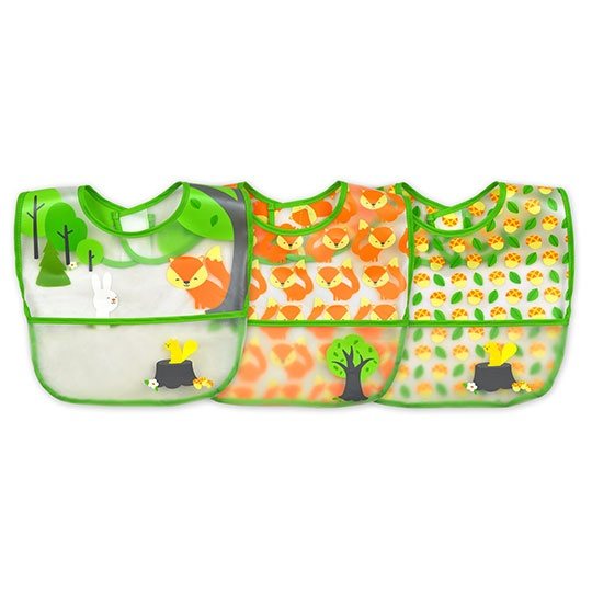 Green Sprouts Green Wipe Off Food Bibs 9-24 Month