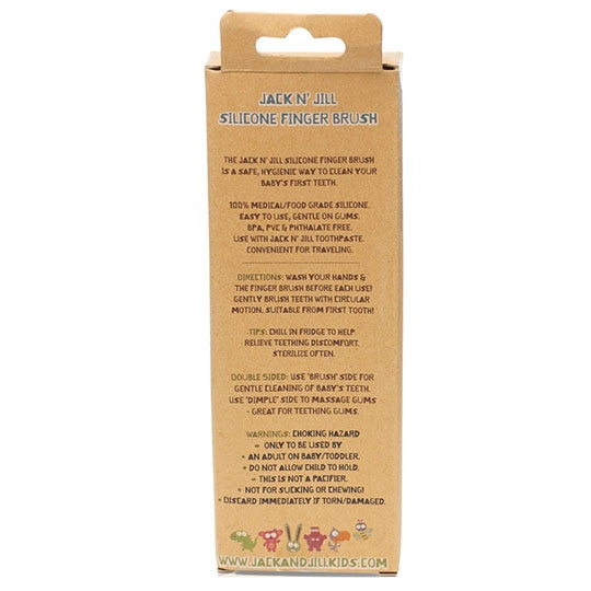 Jack N' Jill Kids Silicone Finger Brush Stage 1 (6 Month-12 Month) 1 X 2.4 X 6.7 Inches