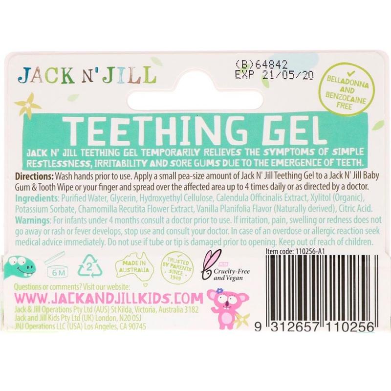 Jack N' Jill Teething Gel 0.5 Oz