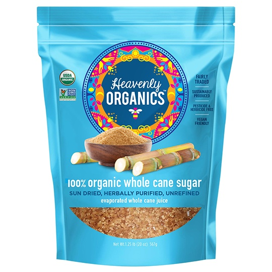 Heavenly Organics 100% Organic Whole Cane Sugar