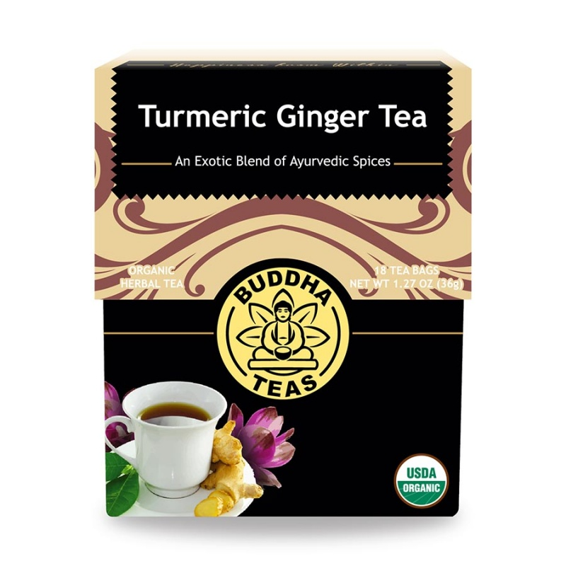 Buddha Teas Organic Turmeric Ginger 18 Tea Bags