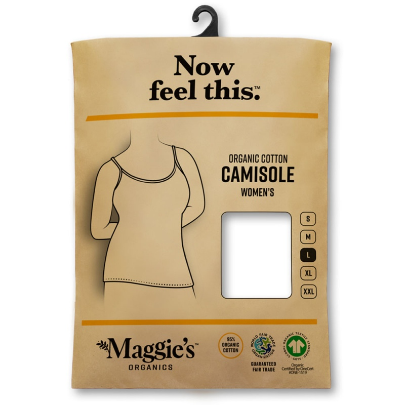 Maggie's Functional Organic Large White Camisole