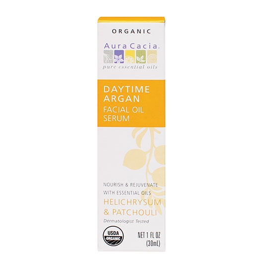 Aura Cacia Daytime Argan Facial Oil Serum 1 Fl. Oz.