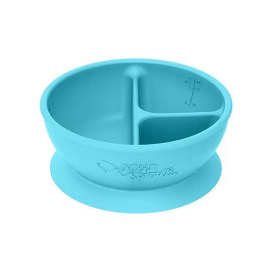 Green Sprouts Aqua 3-section Suctioned Learning Bowl