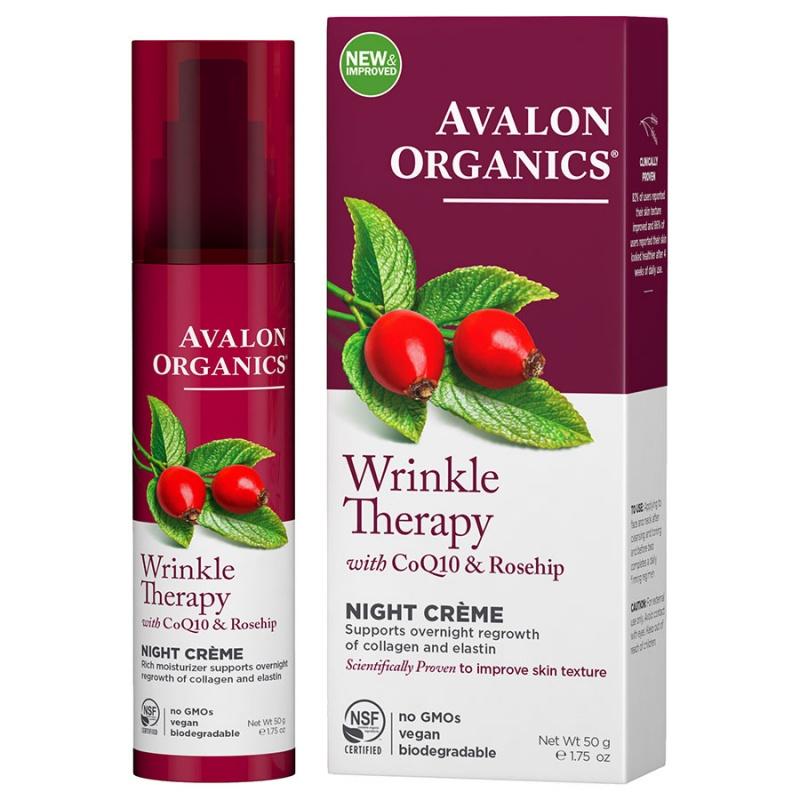 Avalon Organics Coq10 Wrinkle Defense Night Creme 1.75 Fl. Oz.