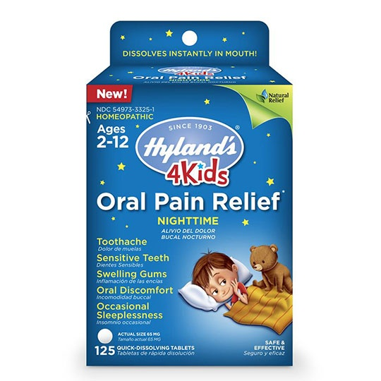 Hyland's 4 Kids Nighttime Oral Pain Relief 125 Quick-Dissolving Tablets Unless Noted