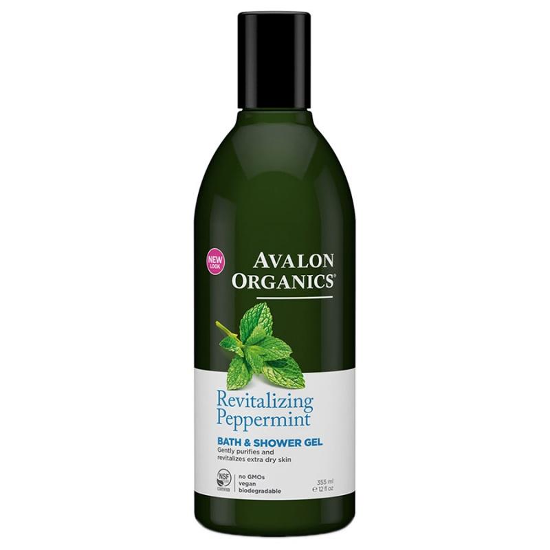 Avalon Organics Peppermint Bath & Shower Gel 12 Fl. Oz.