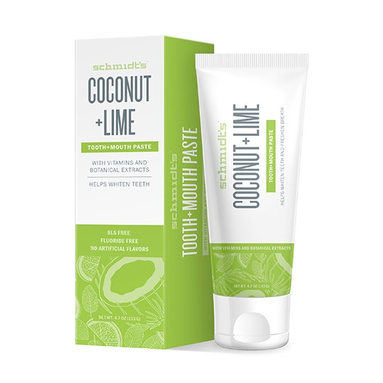 Schmidt's Deodorant Coconut Lime Natural Tooth + Mouth Paste 4.7 Oz.