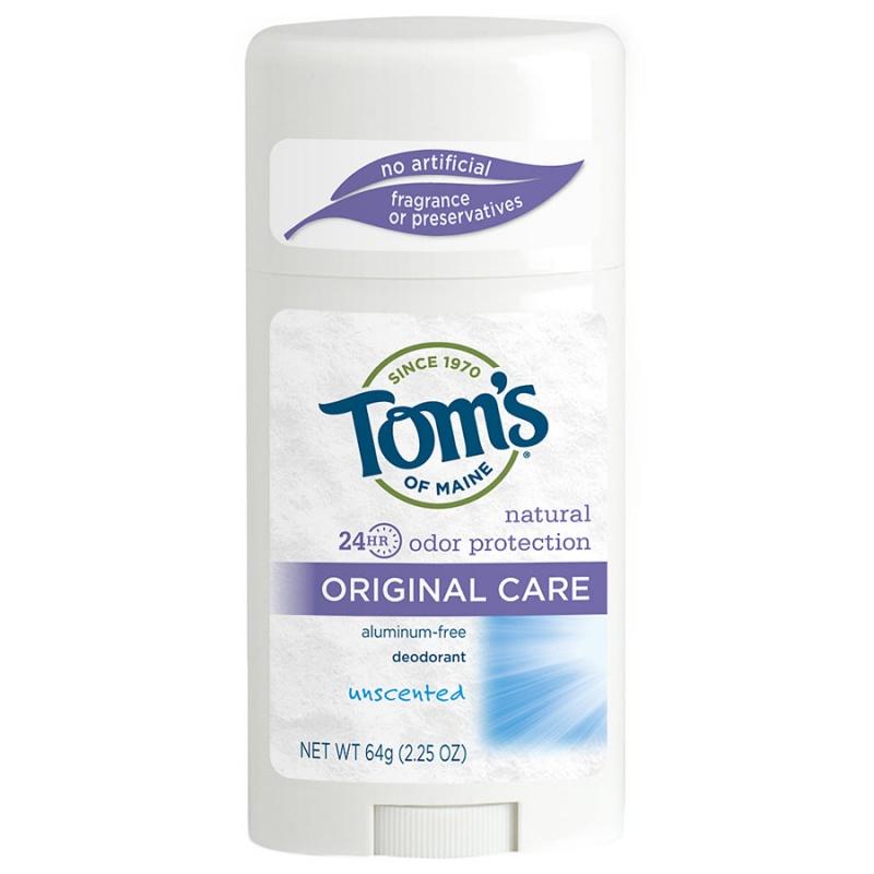 Tom's Of Maine Unscented Long Lasting Deodorant 2.25 Oz.