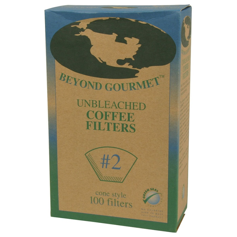 Beyond Gourmet #2 Cone Style Unbleached Coffee Filters #2 Cone