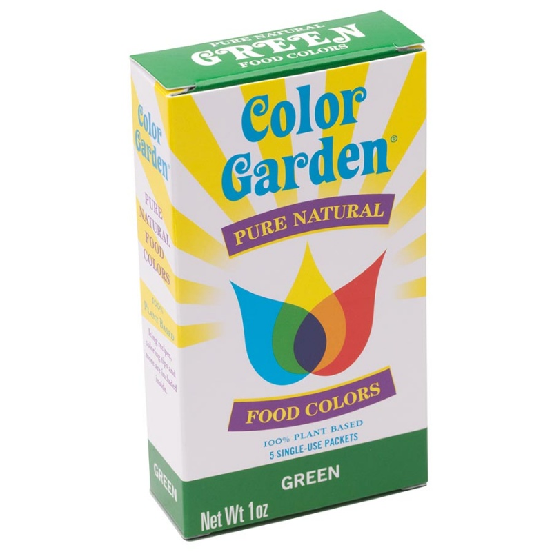 Color Garden Green Natural Food Color 5 (6g) Packets