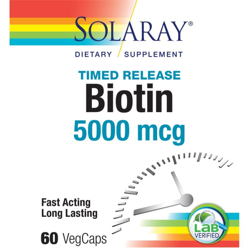 Solaray Biotin Two Stage Time Release Formula 60 Count