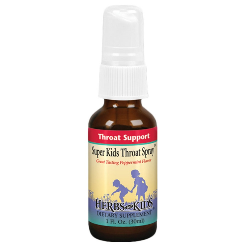 Herbs For Kids Peppermint Super Kids Throat Spray 1 Fl. Oz
