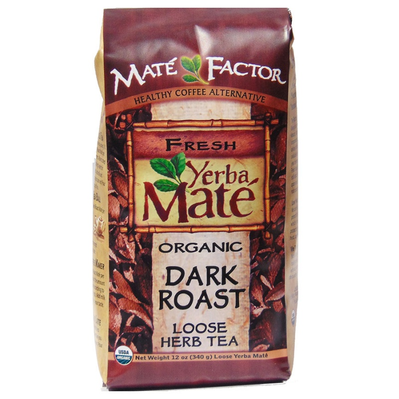 Mat&eacute Factor Dark Roast Loose Leaf Yerba Mate Tea 12 Oz.