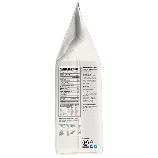 Nutiva Organic Hemp Protein Powder 30 Oz.