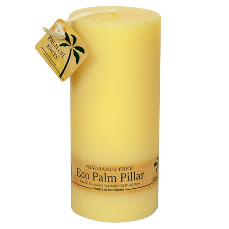 Aloha Bay Unscented Cream Pillar Candle 2 1/4 X 5