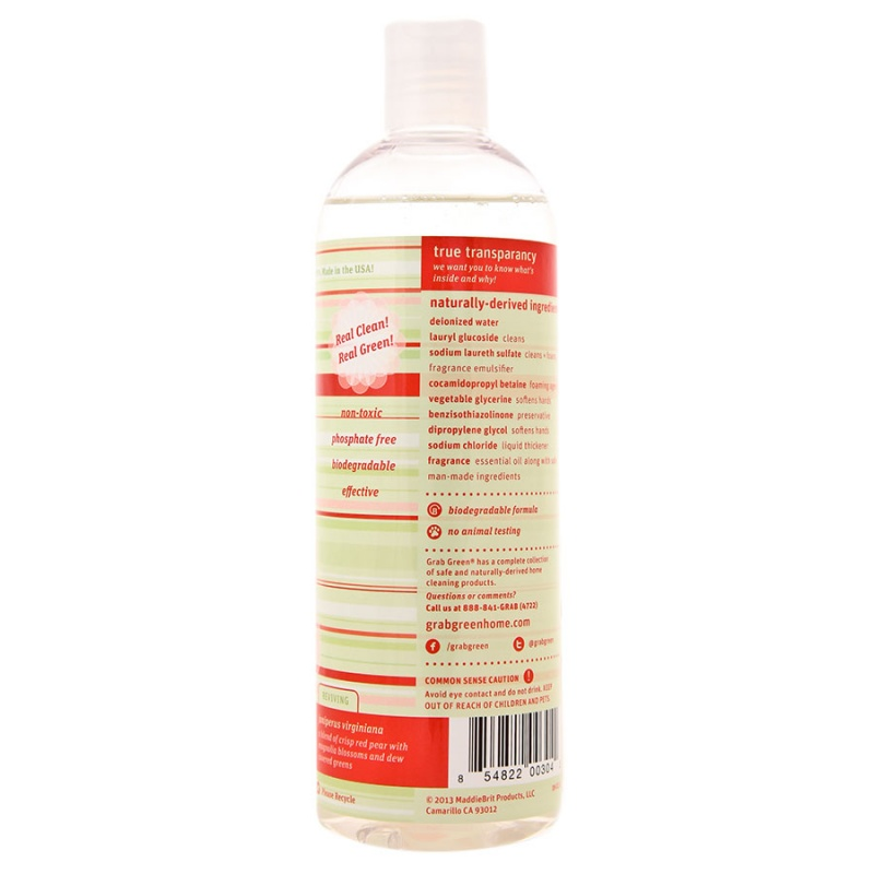 Grab Green Red Pear With Magnolia Dish Soap 16 Oz.