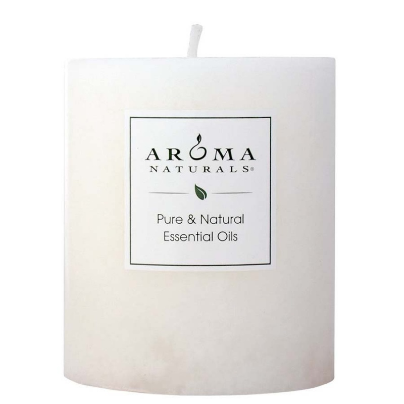 Aroma Naturals Meditation White Pillar 3 X 3 1/2