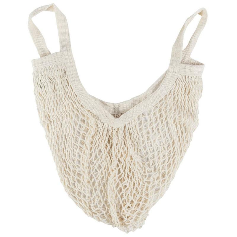 E C O B A G S Organic Cotton String Bag With Short Handles