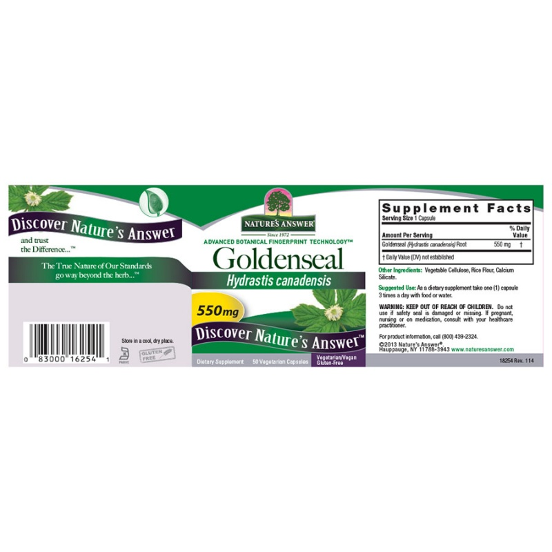 Nature's Answer Goldenseal Root