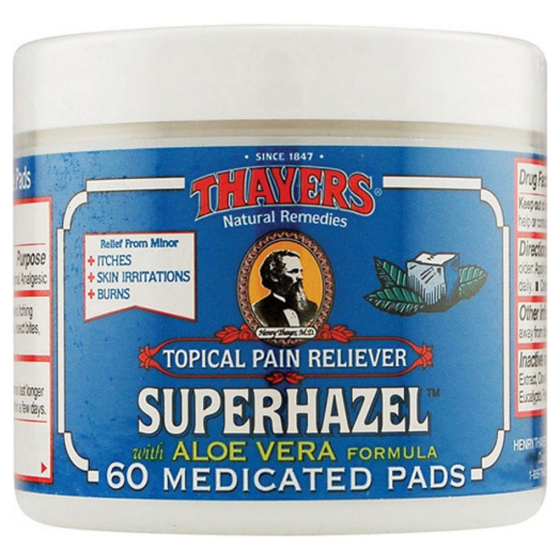 Thayers Medicated Astringent Pads 30 Count