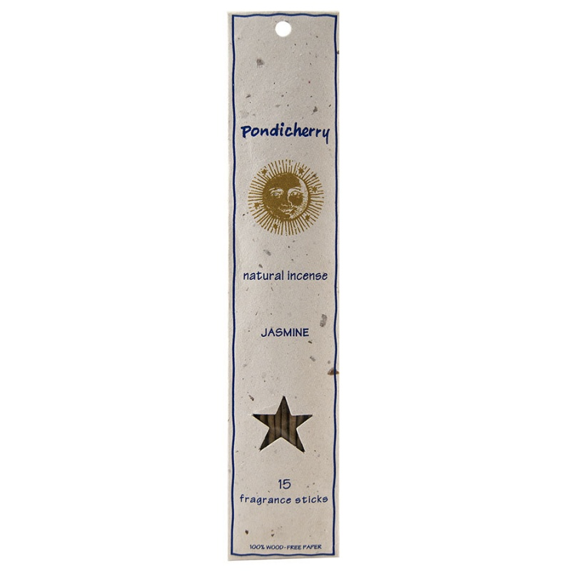 Pondicherry Natural Jasmine Incense Sticks 15 Count