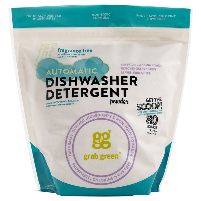 Grab Green Fragrance Free Auto Dishwasher Powder With Scoop 80 Loads