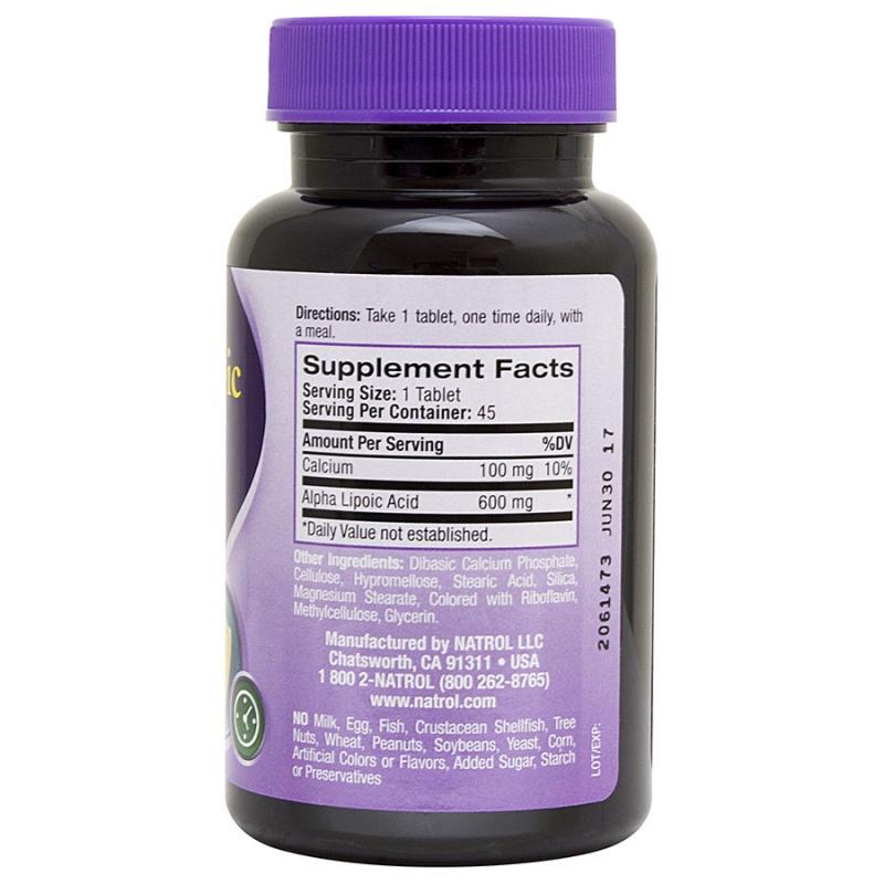 Natrol Alpha Lipoic Acid Time Release 45 Tablets