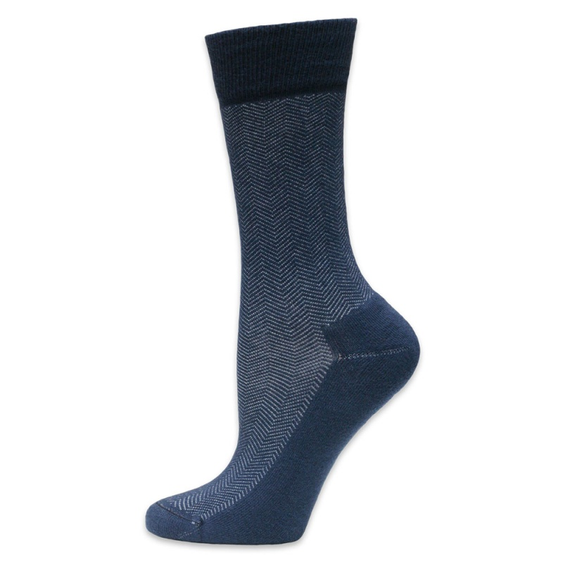 Maggie's Functional Organics 14-16 Navy Cotton Dress Socks