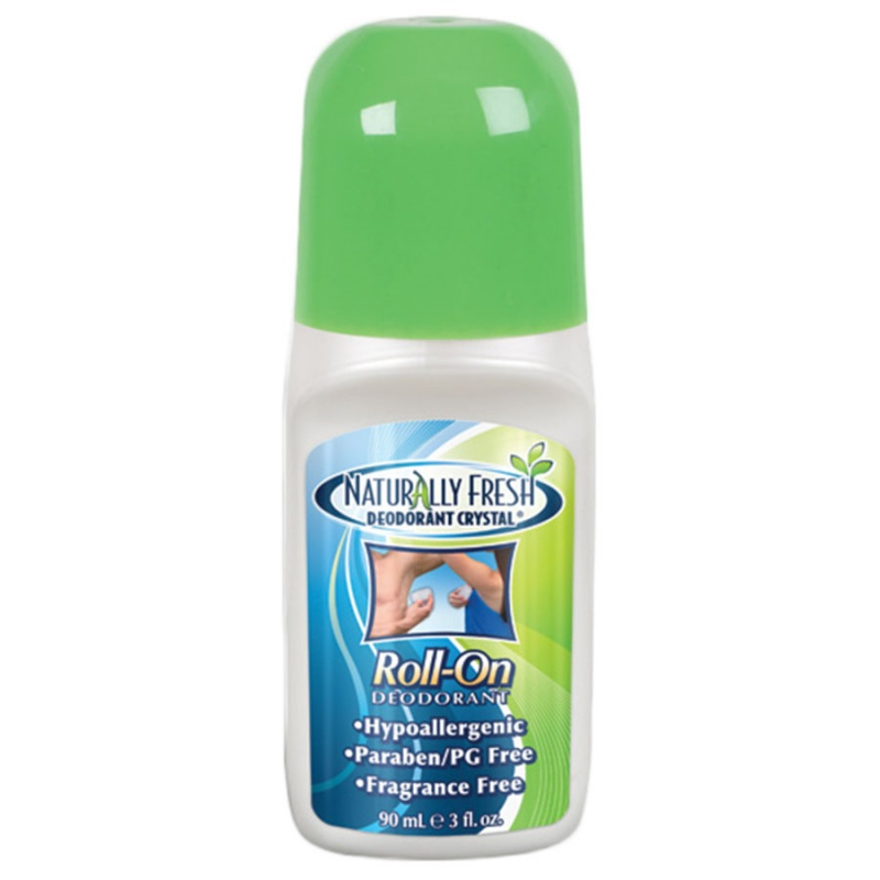 Naturally Fresh Unscented Deodorant Crystal Roll On 3 Oz