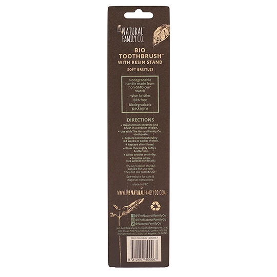 The Natural Family Co. Ivory Desert Bio Toothbrush & Stand