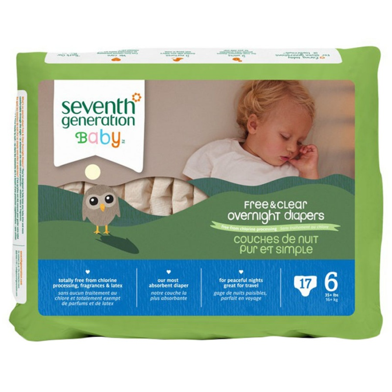 Seventh Generation Stage 6 (35+ Lbs.) Overnight Diapers 17 Count