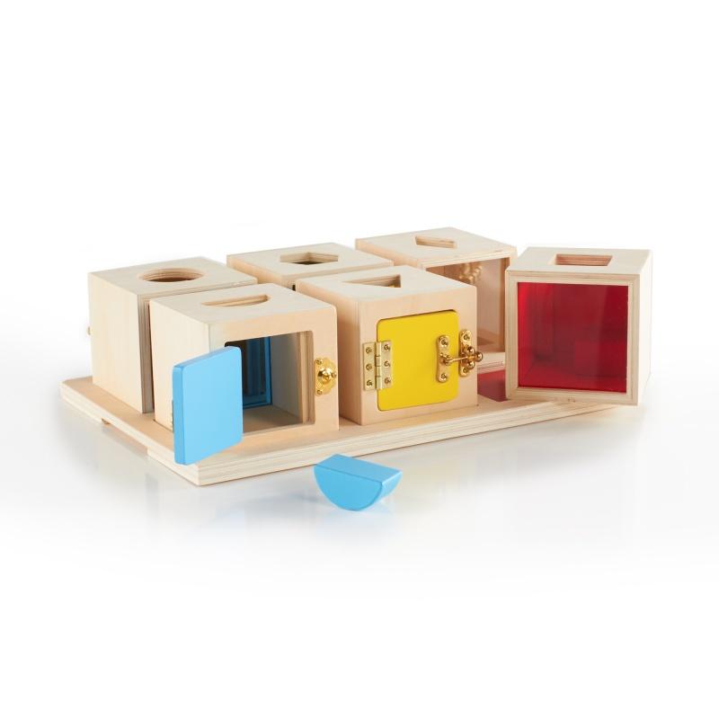 Guidecraft Peekaboo Lock Boxes Set Of 6