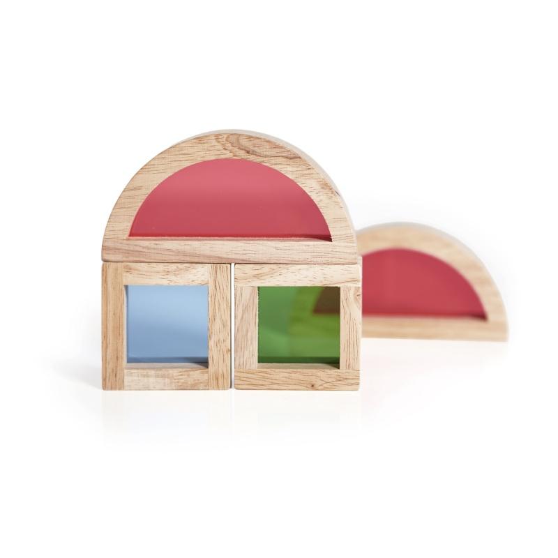 Guidecraft Jr. Rainbow Blocks 20 Piece Set