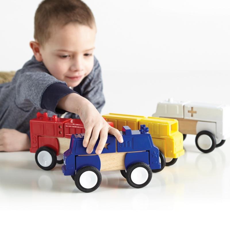Guidecraft Block Mates Community Vehicles