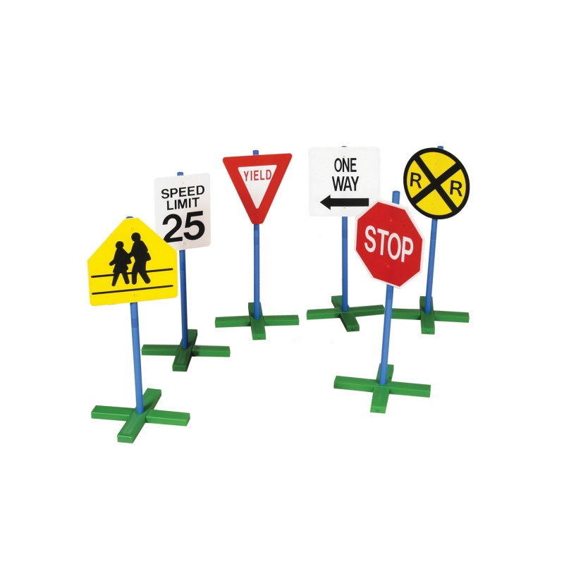 Guidecraft Drivetime Signs – Set Of 6