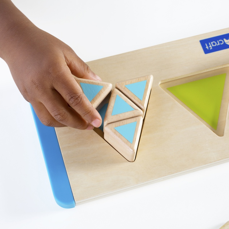 Guidecraft Starter Triangle Fractions